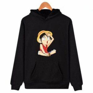 Boutique One Piece Sweat Noir / XXS Sweat One Piece Luffy Capitaine
