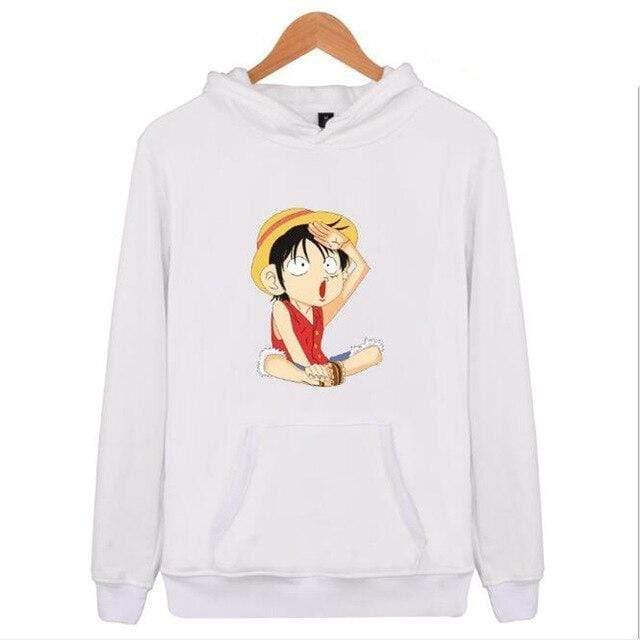 Boutique One Piece Sweat Blanc / XXS Sweat One Piece Luffy Capitaine