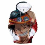 Boutique One Piece Sweat XXS Sweat One Piece Luffy  Chapeau d'Ace