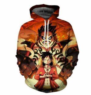 Boutique One Piece Sweat S Sweat One Piece Luffy et Luffy Gear Fourth