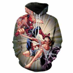 Boutique One Piece Sweat L Sweat One Piece Luffy Vs Spider Man