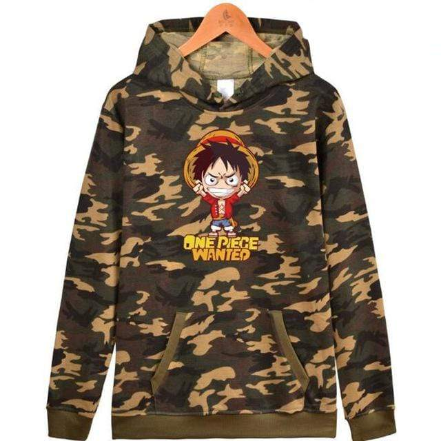Boutique One Piece Sweat Militaire / XXS Sweat One Piece Luffy Wanted