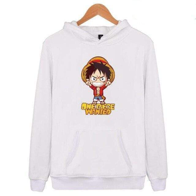 Boutique One Piece Sweat Blanc / XXS Sweat One Piece Luffy Wanted