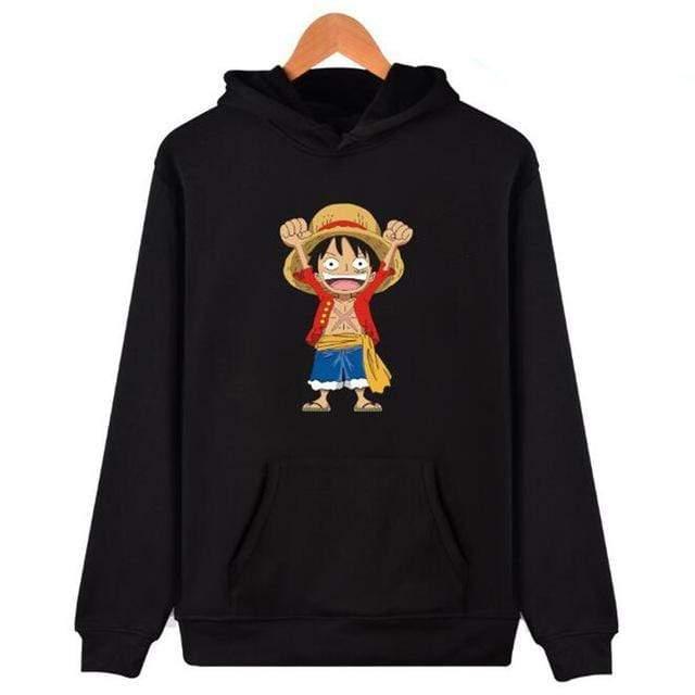 Boutique One Piece Sweat Noir / XXS Sweat One Piece Mini Luffy au Chapeau de Paille