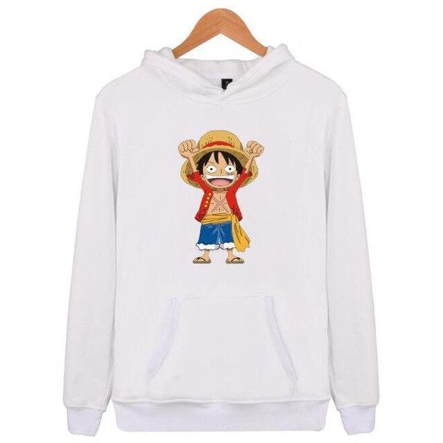 Boutique One Piece Sweat Blanc / XXS Sweat One Piece Mini Luffy au Chapeau de Paille