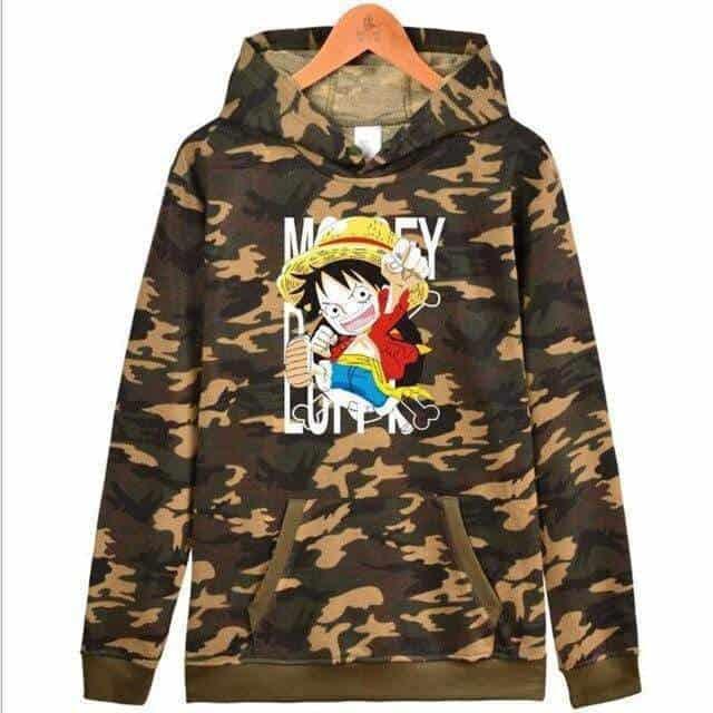 Boutique One Piece Sweat Militaire / XXS Sweat One Piece Mini Monkey D. Luffy