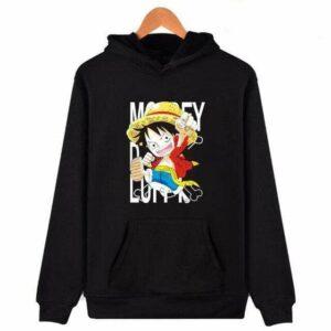 Boutique One Piece Sweat Noir / XXS Sweat One Piece Mini Monkey D. Luffy