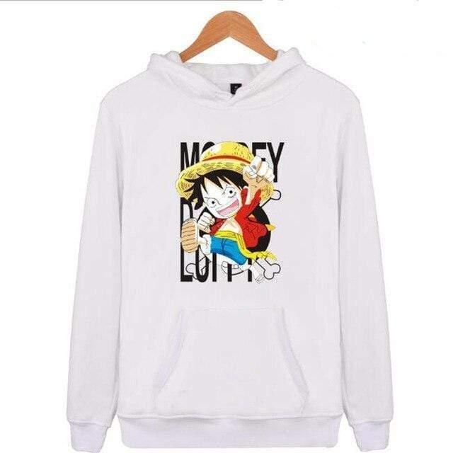 Boutique One Piece Sweat Blanc / XXS Sweat One Piece Mini Monkey D. Luffy