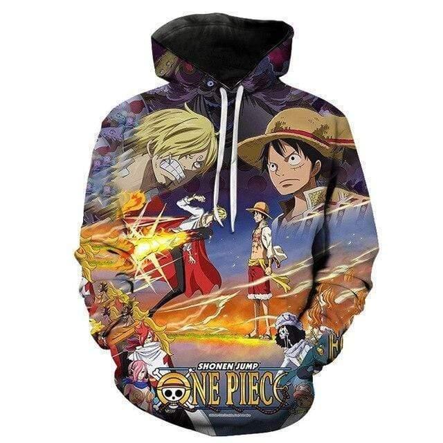 Boutique One Piece Sweat XXL Sweat One Piece Sanji Vs Luffy