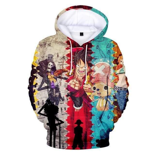 Boutique One Piece Sweat XXS Sweatshirt One Piece Brook Chopper Et Luffy