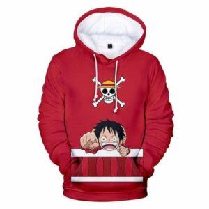 Boutique One Piece Pull XXL Sweatshirt One Piece Kawaii Monkey D Luffy