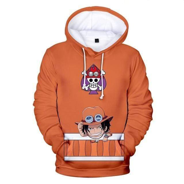 Boutique One Piece Pull 150 Sweatshirt One Piece Kawaii Portgas D Ace