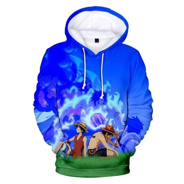 Boutique One Piece Sweat 3XL Sweatshirt One Piece Luffy Et Ace Le Souvenir D'un Frère