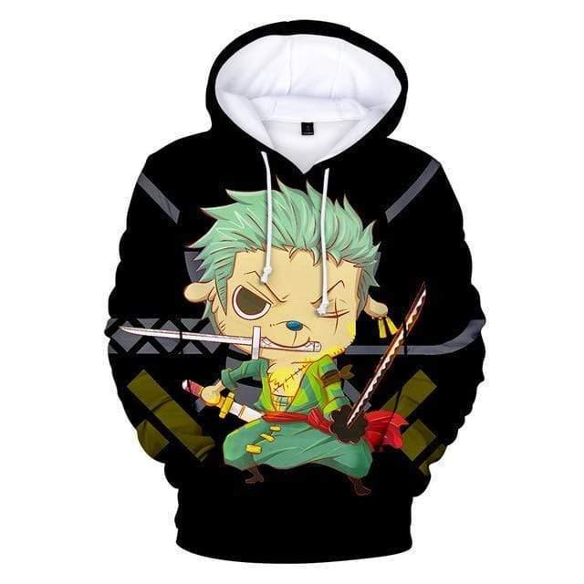Boutique One Piece Sweat 3XL Sweatshirt One Piece Zoro En Minks