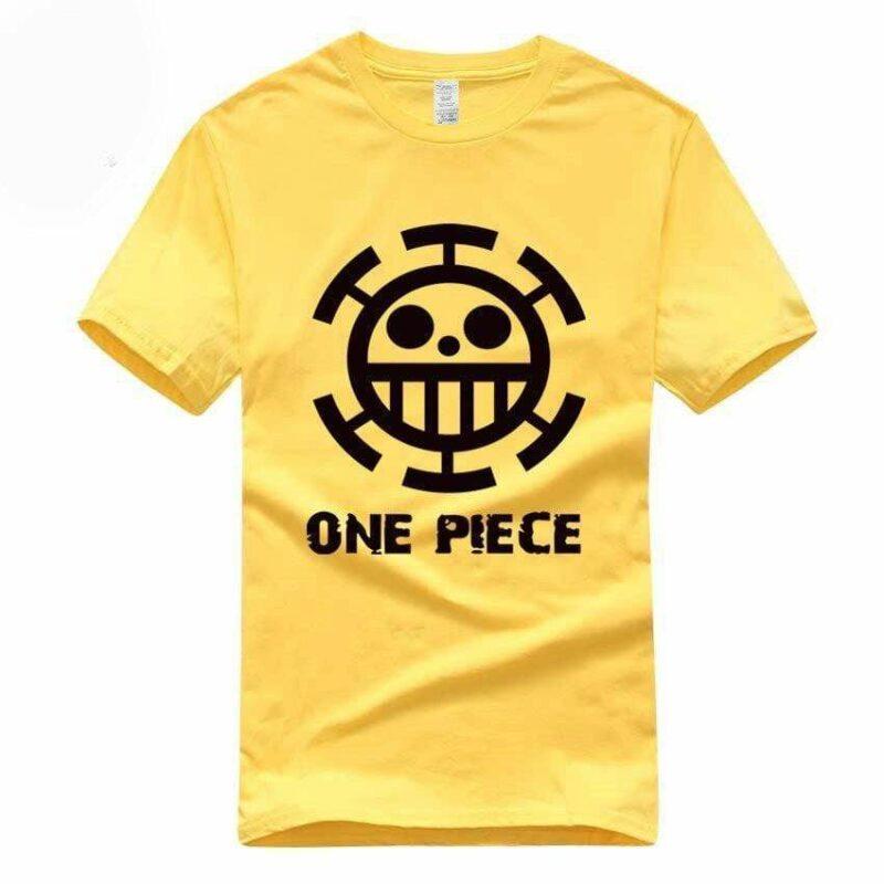 Boutique One Piece T-shirt S / Jaune / Logo Noir T Shirt Equipage de  Law One Piece