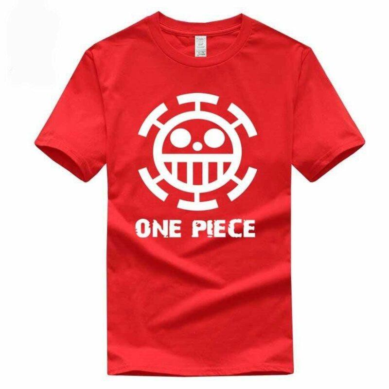 Boutique One Piece T-shirt M / Rouge / Logo Blanc T Shirt Equipage de  Law One Piece