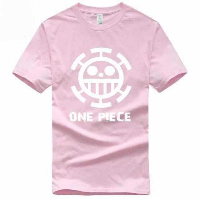 Boutique One Piece T-shirt S / Rose / Logo Blanc T Shirt Equipage de  Law One Piece