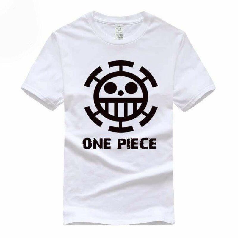 Boutique One Piece T-shirt S / Blanc / Logo Noir T Shirt Equipage de  Law One Piece