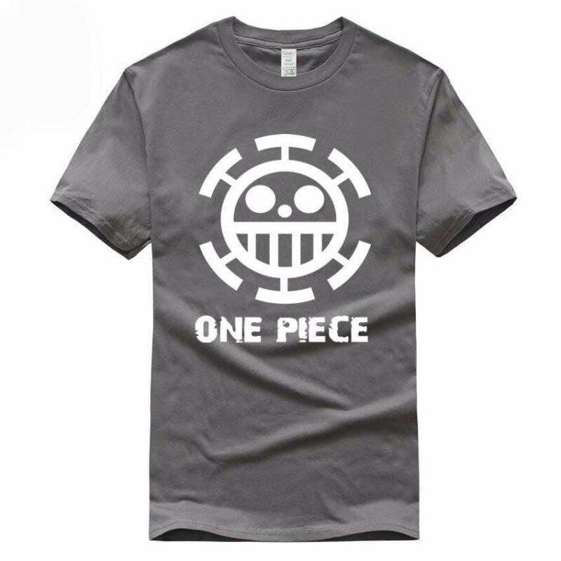 Boutique One Piece T-shirt S / Gris Foncé / Logo Blanc T Shirt Equipage de  Law One Piece