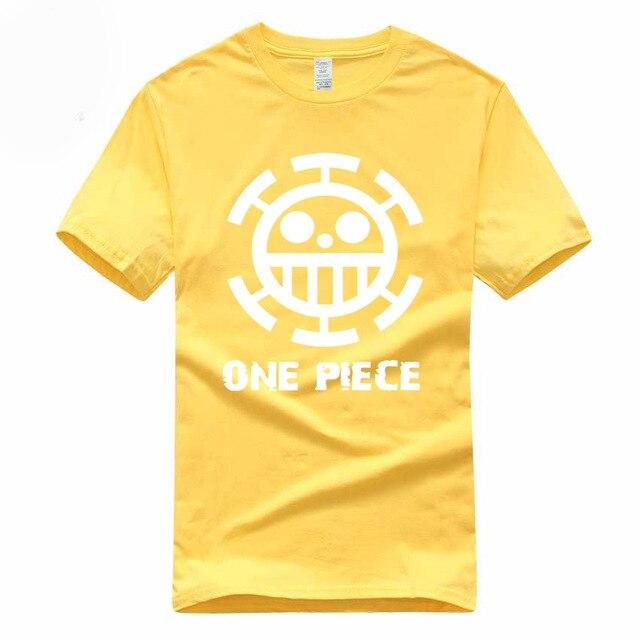 Boutique One Piece T-shirt S / Jaune / Logo Blanc T Shirt Equipage de  Law One Piece
