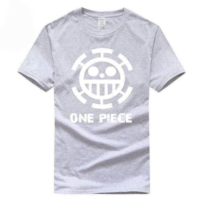 Boutique One Piece T-shirt XXL / Gris / Logo Blanc T Shirt Equipage de  Law One Piece
