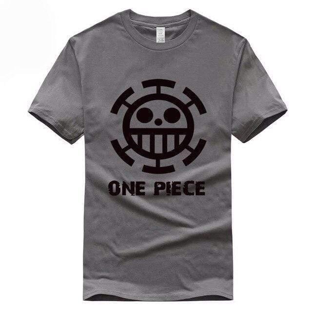 Boutique One Piece T-shirt S / Gris Foncé / Logo Noir T Shirt Equipage de  Law One Piece