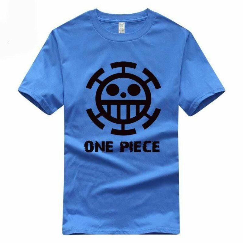 Boutique One Piece T-shirt S / Bleu / Logo Noir T Shirt Equipage de  Law One Piece