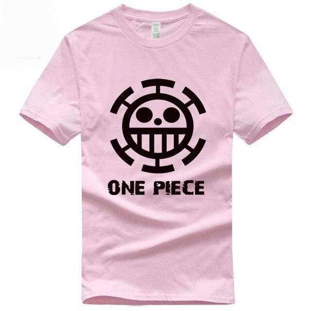 Boutique One Piece T-shirt S / Rose / Logo Noir T Shirt Equipage de  Law One Piece