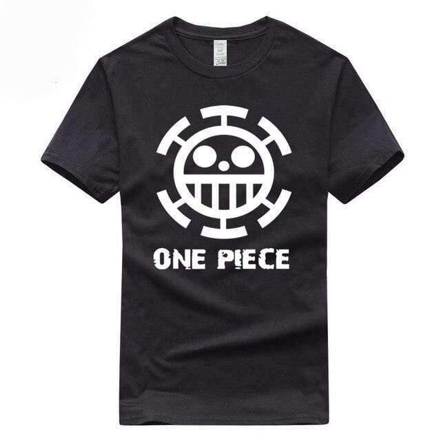 Boutique One Piece T-shirt S / Noir / Logo Blanc T Shirt Equipage de  Law One Piece