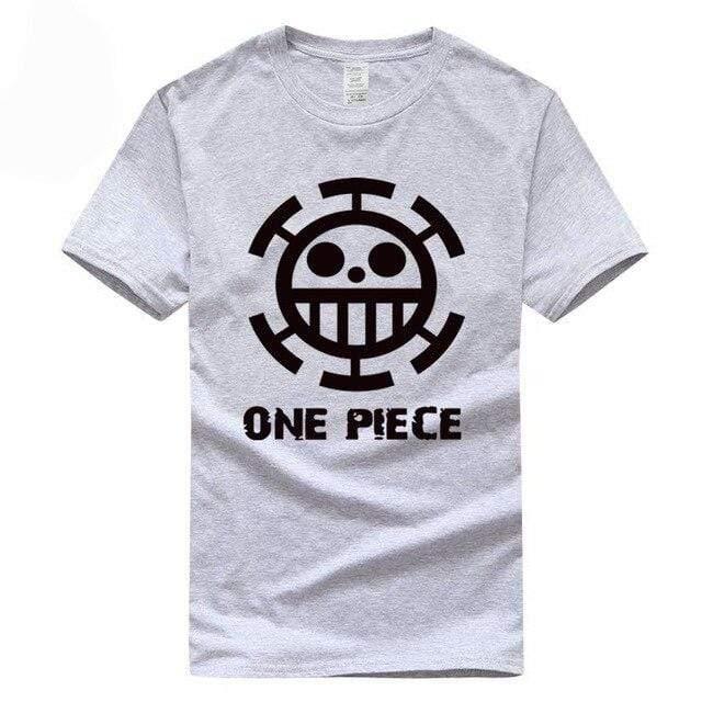 Boutique One Piece T-shirt XXL / Gris / Logo Noir T Shirt Equipage de  Law One Piece