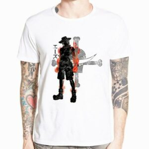Boutique One Piece T-shirt xs T-Shirt One Piece Ace aux Poings Ardents