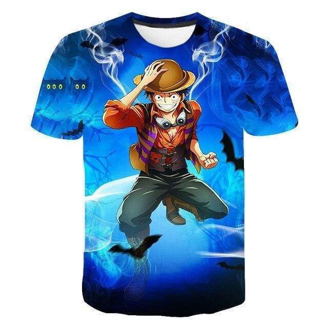 Boutique One Piece T-shirt XXL T Shirt One Piece Bat Luffy