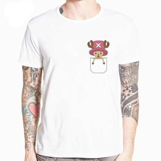 Boutique One Piece T-shirt L T-Shirt One Piece Chopper de Poche