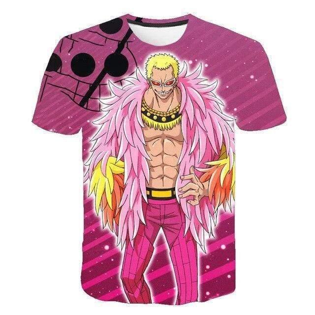 Boutique One Piece T-shirt 4XL T-Shirt One Piece Doflamingo Le Grand Corsaire