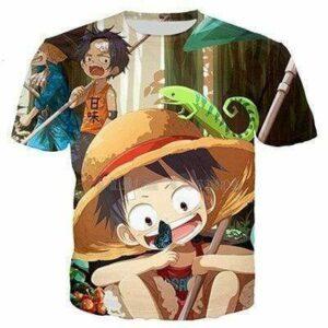 Boutique One Piece T-shirt XS T Shirt One Piece Kawaii Ace Et Luffy Enfant