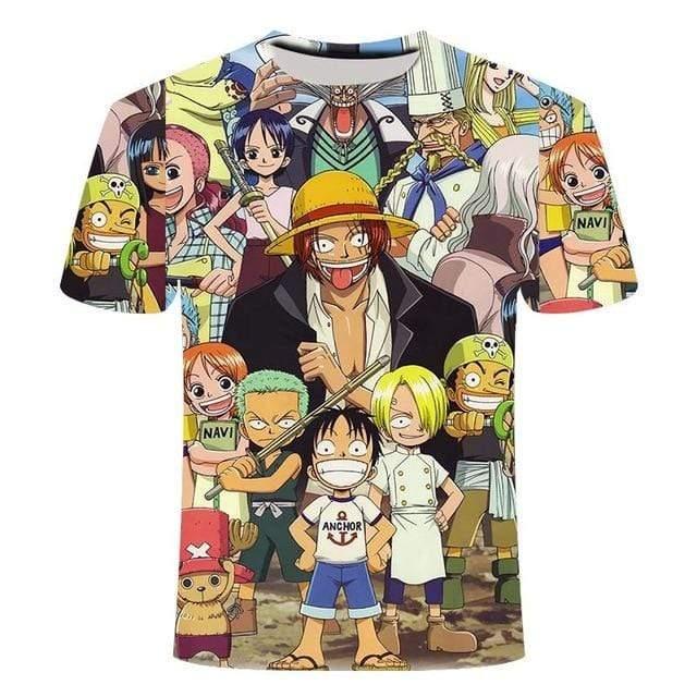 Boutique One Piece T-shirt XL T Shirt One Piece Kawaii  Shanks Et Les Mugiwara Enfant
