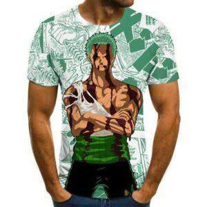 Boutique One Piece T-shirt 4XL T-shirt One Piece La Détermination De Zoro