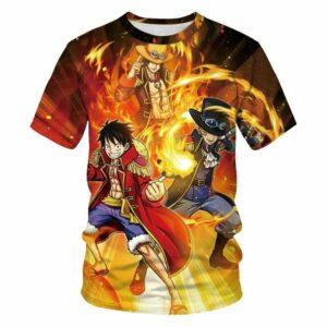 Boutique One Piece T-shirt 3XL T Shirt One Piece La Fratrie Du Feu