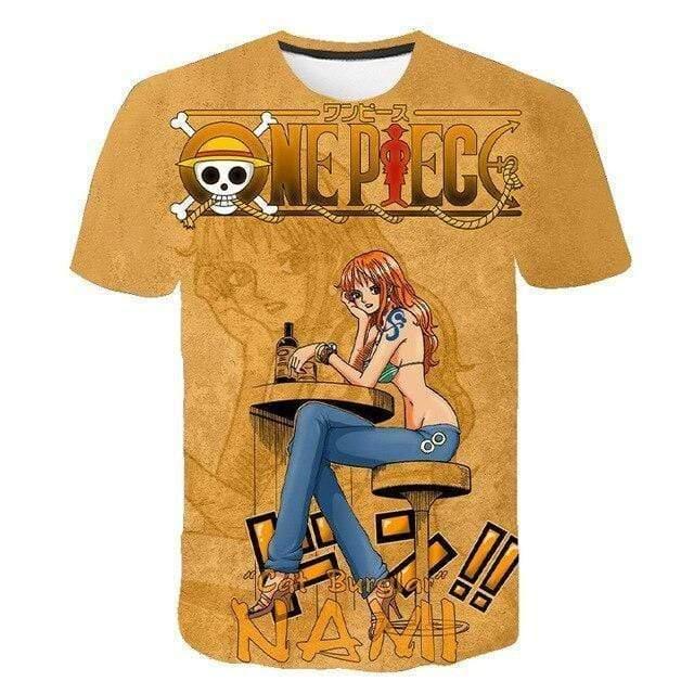 Boutique One Piece T-shirt XXS T-Shirt One Piece la Navigatrice Voleuse Nami