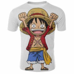 Boutique One Piece T-shirt 2XL T-Shirt One Piece Le Mignon Petit Luffy
