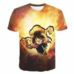 Boutique One Piece T-shirt 4XL T-Shirt One Piece Le Pirate Monkey D Luffy