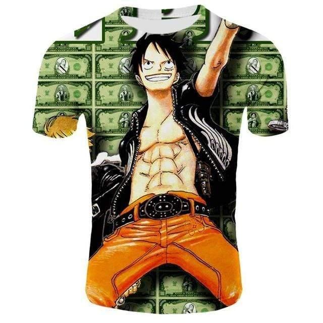 Boutique One Piece T-shirt 2XL T-Shirt One Piece Les Berry de Luffy
