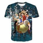 Boutique One Piece T-shirt 3XL T Shirt One Piece Les Mugiwara A La Conquête Du Monde