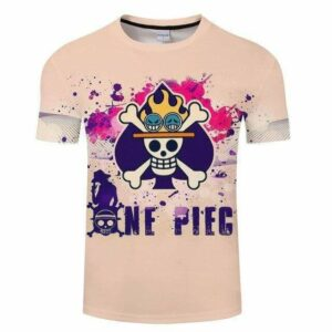 Boutique One Piece T-shirt S T-Shirt One Piece Logo De Ace L'homme Feu