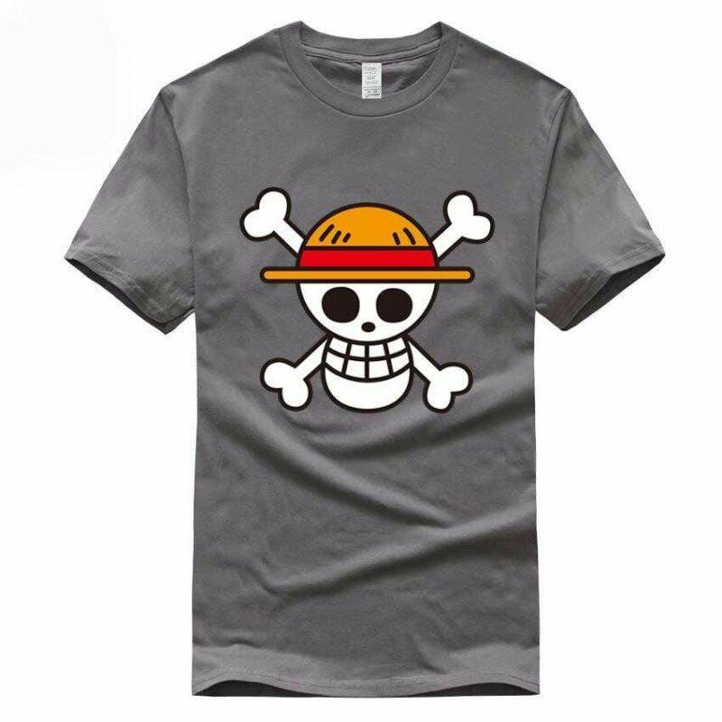 Boutique One Piece T-shirt Gris Foncé / S T-Shirt One Piece Logo Des Chapeaux De Paille