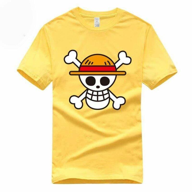 Boutique One Piece T-shirt Jaune / S T-Shirt One Piece Logo Des Chapeaux De Paille