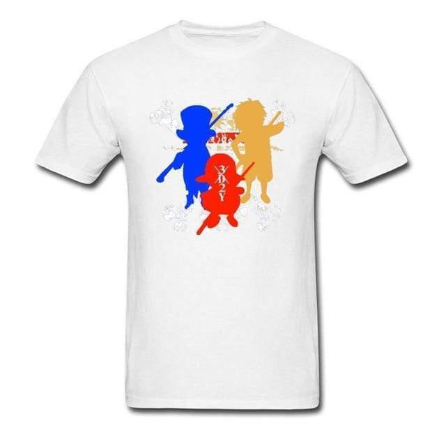 Boutique One Piece T-shirt XS T-Shirt One Piece Luffy Ace et Sabo Colorée