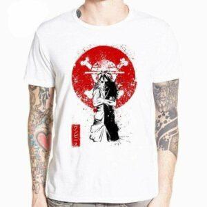 Boutique One Piece T-shirt XXXL T-Shirt One Piece Luffy et la Lune de Sang