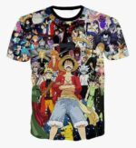 Boutique One Piece T-shirt 2XL T-Shirt One Piece Luffy et le All Star