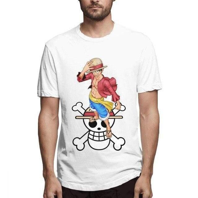 Boutique One Piece T-shirt Blanc / L T Shirt One Piece Luffy Et Son Symbole